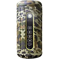 Bliiq Infinite X Portable Outdoor Bluetooth Wireless Speaker - Waterproof, Dustproof, Shockproof w/ Built-in Powerbank, LED light, Micro-SD card Slot - CAMOUFLAGE COLOR