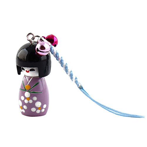 Purple Cartoon Japenese Girl Doll Pendant Strap Hanger for Cell Phone Mp4 from Gino