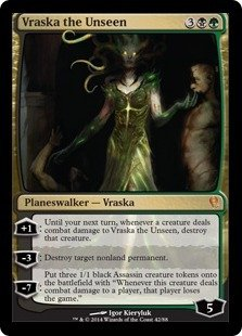 Magic: the Gathering - Vraska the Unseen (42) - Duel Decks: Jace vs Vraska (Mtg Target Destroy Permanent)