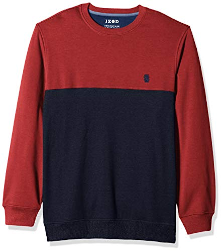IZOD Mens Big and Tall Advantage Performance Color Block Crew Fleece