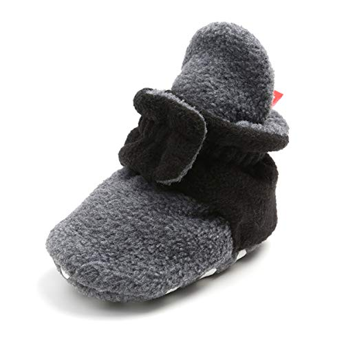 BENHERO Baby Booties Infant Baby Boys Girls Slippers Winter Booties with Grippers Stay On Socks Newborn Crib Baby Socks