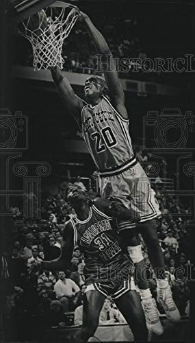 Vintage Photos 1990 Press Photo Marquette Basketball Player Trevor Powell Dunks The Ball