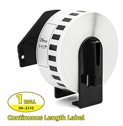 1Roll Continuous Length Paper Label Roll Compatible with Brother DK-2210 Compatible White Paper Tape Labels 29mm x 30.48m(1-1/7
