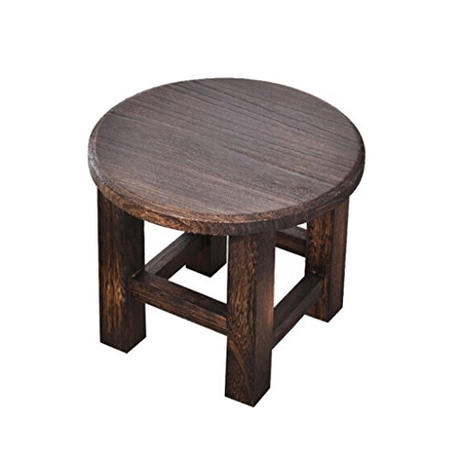 YANGXIAOYU Home Stool Fashion Solid Wood Small Round Stool Simple Small Stool Stool Small Wooden Stool Adult Coffee Table Round Stool Change Shoes Stool Living Room Simple Modern Log