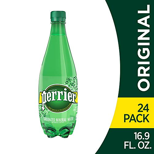Perrier Carbonated Mineral Water, 16.9 Fl Oz (Pack of 24) Plastic Bottles (Foods That Make Your Stomach Flat Fast)