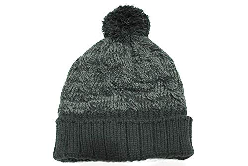 (Jordan Youth's Knit Cable Black/Charcoal Grey Beanie Hat size 8/20)