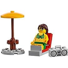 LEGO City Beachgoer MiniFigure: Woman in Green Bikini Top & Shorts (Lawn Chair w/ Radio) 60153