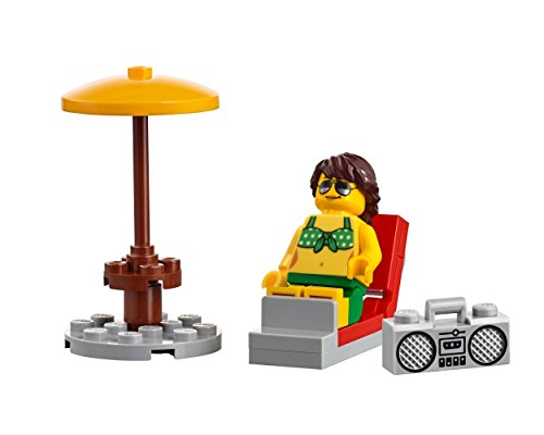 LEGO City Beachgoer MiniFigure: Woman in Green Bikini Top & Shorts (Lawn Chair w/ Radio) 60153