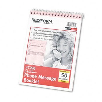 - RED47296 - Desk Saver Line Wirebound Message Book