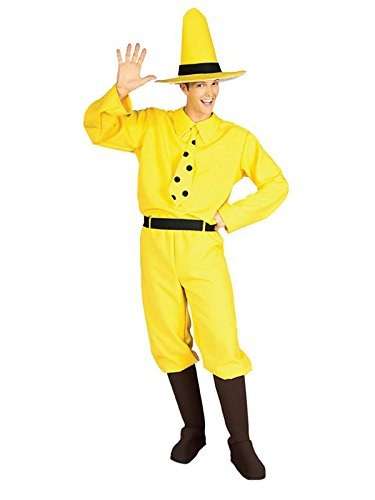 Man in The Yellow Hat Curious George Costume for Adults ()
