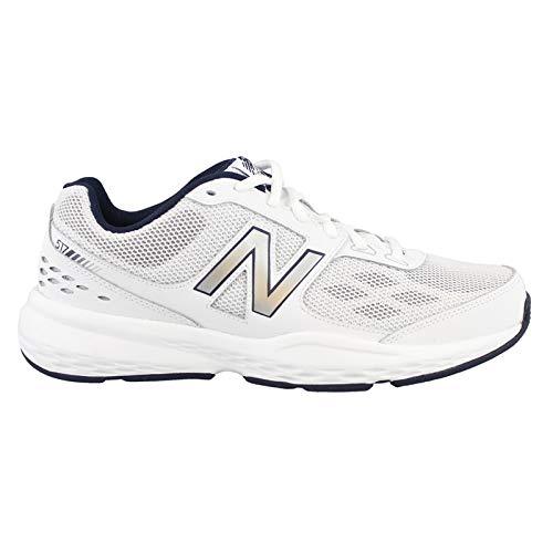 New Balance Men's MX517v1 Training Shoe, White, 10.5 D US (Cadillac Shoes For Men)
