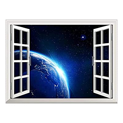 Removable Wall Sticker Wall Mural Earth with Blue...