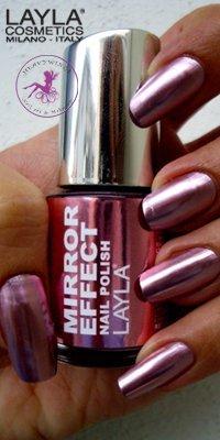 Esmalte De Uñas Layla Mirror Effect N 3 Rosa Pink Iron