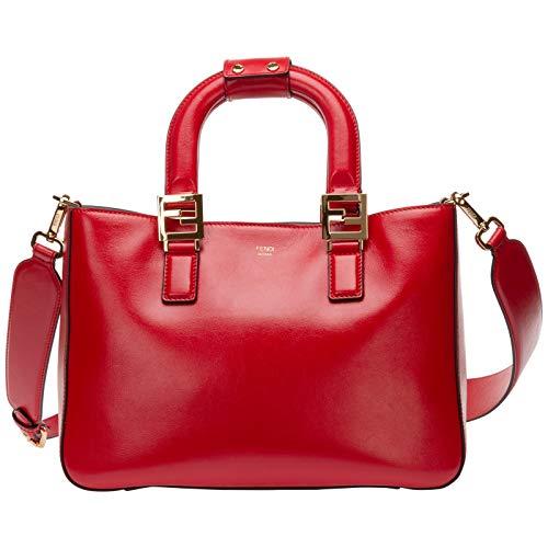 FENDI mujer Ff bolsas de mano rosso