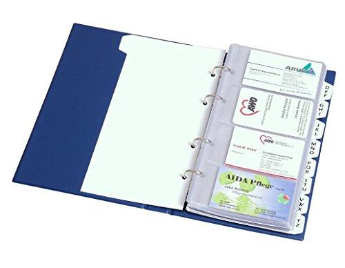Visitenkartenhüllen zur Erweiterung der Kapazität der Visitenkartenbücher, VE 10 Stück