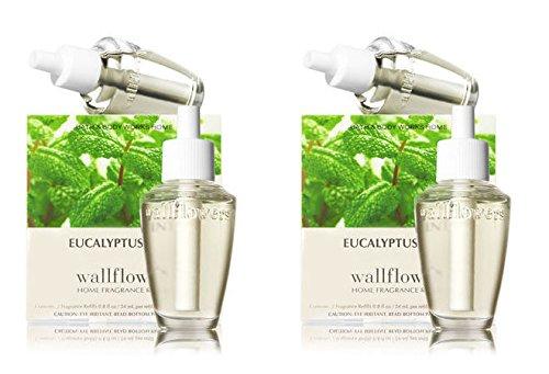 Bath & Body Works Eucalyptus Mint Wallflowers 4-Pack Refills, 0.8 fl oz / 24 mL Each