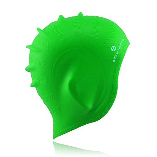 Badekappe »Franklin« mit extra Ohrenschutz. Schwimmkappe, Unisex aus langlebigem Qualitäts-Silikon (Elasthan), sehr elastisch, passt sich jeder Kopfform perfekt an gruen