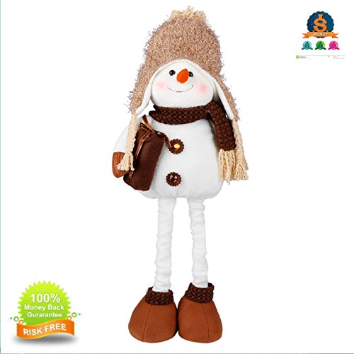 TORUBIA Christmas Standing Plush Figure Toy Decoration Xmas Table Door Home Indoor Display Party Gift Ornaments 6.317.3 inch Can Elongated 21.65 (Plush Standing Snowman)