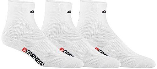 - Louis Garneau - Low Versis 3-Pack Performance Cycling Socks, White, Large/X-Large