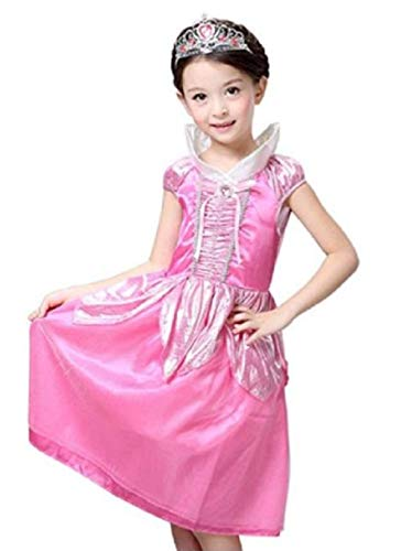 Peachi Disney Sleeping Beauty Princess Aurora/Briar Rose Costume for Girls 4-10 (XL - 6X/7)