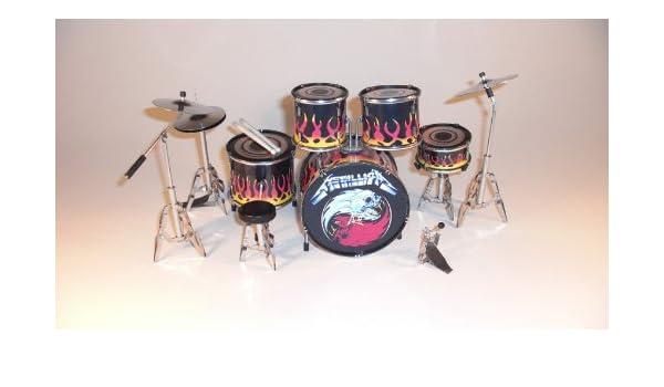 RGM306 Lars Ulrich Metallica Kit de batería en Miniatura: Amazon.es: Electrónica