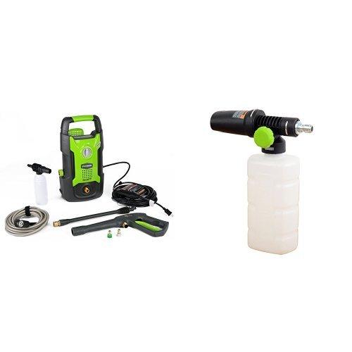 GreenWorks 1500 PSI 1.2 GPM Electric Pressure Washer + High Pressure Soap Applicator by Greenworks