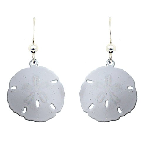 Sand Dollar Earrings by d'ears Non-Tarnish Sterling Silver French Hook Ear Wire