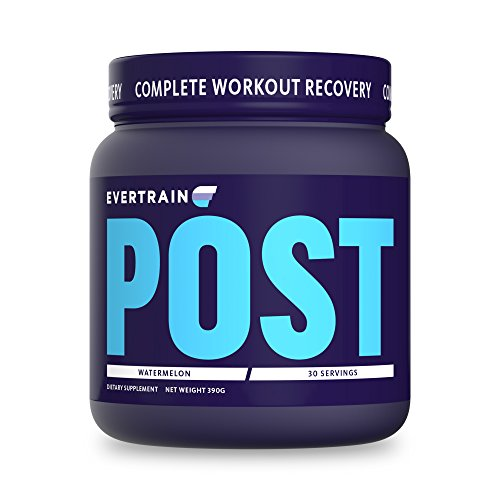 EVERTRAIN POST – Premium Clean Post Workout Recovery Powder With Natural Flavors and Colors – Muscle Repair, Decreased Inflammation, Reduced Recovery Time – Vegan Friendly – Watermelon – 30 Servings