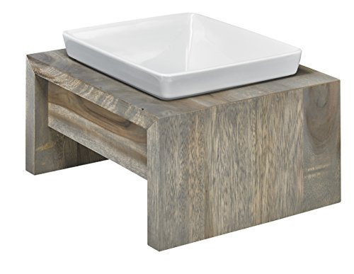 Bowsers Artisan Diner Single Dog Feeder, Medium, Fossil