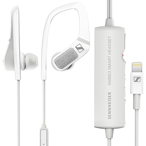 Sennheiser AMBEO Smart Headset (iOS) - Active Noise Cancellation, Transparent Hearing and 3D Sound Recording
