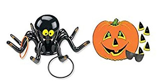Halloween Games Cat Bowling (happy deals Halloween Inflatable Spider Ring toss Game + Free pin Pumpkin)