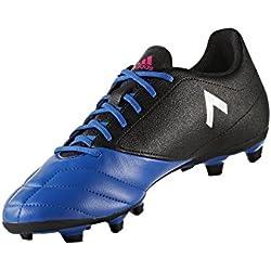 adidas Men's Shoes | Ace 17.4 Fxg Soccer, Black/White/Satellite, (10.5 M US)