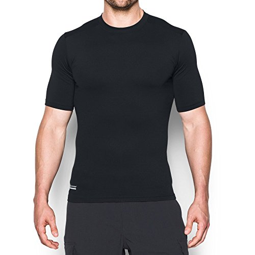 Under Armour Men's ColdGear Infrared Tactical Short Sleeve, Black/Black, XX-Large