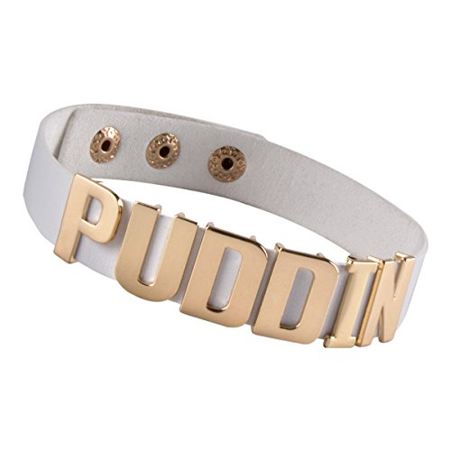 xhorizon FL1 Women Girls Adjustable White Belt Gold Puddin Choker Necklace, White