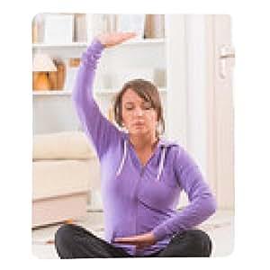 alfombrilla de ratón Mujer que hace ejercicio de tai chi gong haciendo qi - rectangular - 23cm x 19 cm