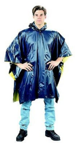 - Navy Blue To Yellow Reversible PVC Poncho