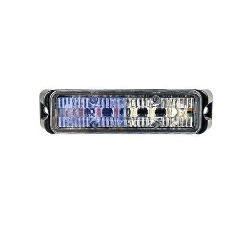 - Abrams Flex Series (Blue/White) 18W - 6 LED Volunteer Firefighter POV Vehicle Truck LED Grille Light Head Surface Mount Strobe Warning Light
