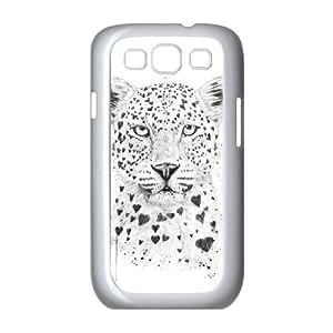 Samsung Galaxy S3 9300 Cell Phone Case White Lovely leopard JSY4250465KSL