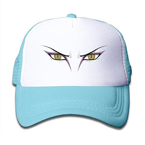 VOLTE Orochimaru Eyes Japanese Comic Naruto Shippuden SkyBlue Mesh Hat For Children School Travel Class Activities