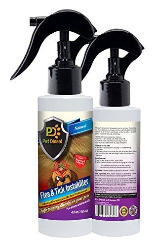 Flea & Tick Repellent & Infestation Control Spray By Pet Diesel – Certified, Natural, Drastic Formula–Provides A 30 Day House & Pet Fur Protection – 4 oz Bottle (Lavender)