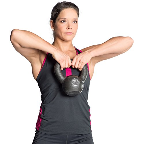 CAP Barbell Cast Iron Kettlebell Tone Fitness Weight Training and Exercise Equipment- 45lbs by CAP Barbell (Image #3)