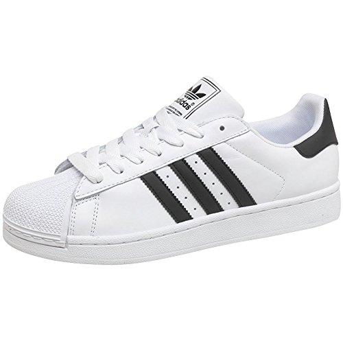 White/Black Mens adidas Originals Mens Superstar 2 Trainers White/Black -  18 UK