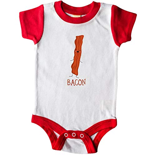 (inktastic - Bacon Costume Infant Creeper 6 Months White and Red)