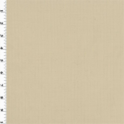 Beige Pin-Stripe Wool Gabardine Suiting, Fabric by The Yard ()