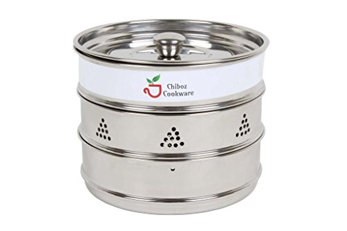 Chiboz Cookware 3 Qt Mini Stackable Steamer Insert Pans with Sling Handle Compatible with Instant Pot 3 Quart by Chiboz Cookware (Image #6)