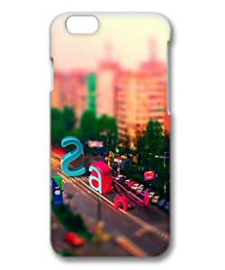 Multicolored City Street Letters Sakuraelieechyan Hard Protective 3D Cover Case for Iphone6 (4.7 inch)