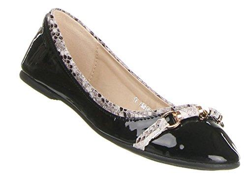 Damen Schuhe Ballerinas Blockabsatz Geschlossene Halbschuhe Schwarz 37, Weitere Farben:, Weitere Größen: 36 37 38 39 40 41