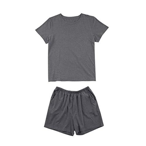 6fc46a913d Zantec Traje para queda en casa, traje para verano, modal de ocio simple  Homewear