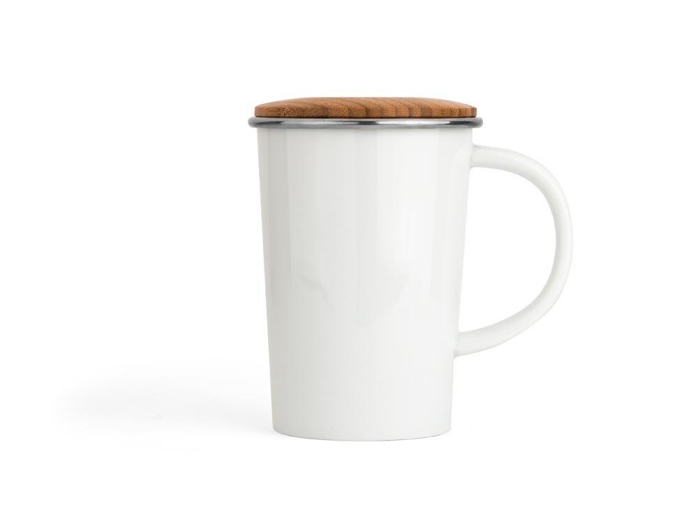 Bredemeijer, taza con filtro para té y tapa de bambú, minimalista