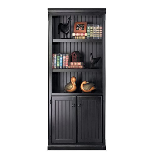 Black Onyx Bookcase (kathy ireland Home by Martin Southampton Library Bookcase - Fully Assembled)